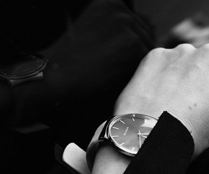 black and white, fashion, and watch image