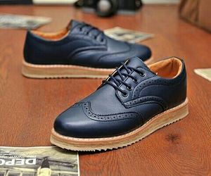 black, men, and shoes image