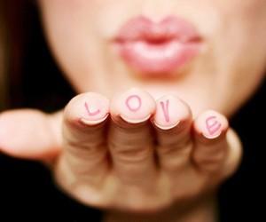 love, kiss, and lips image