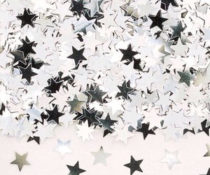 stars, silver, and white image