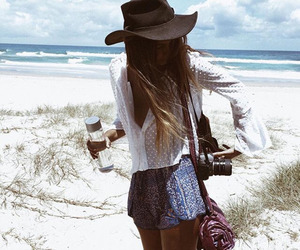 beach, girl, and style image