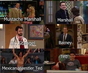 barney, robin, and doppelgangers image