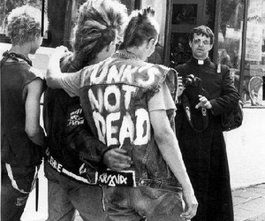 punk and black and white image
