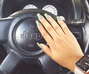 coffin, jeep, and nails image