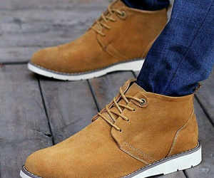 brown, men, and shoes image
