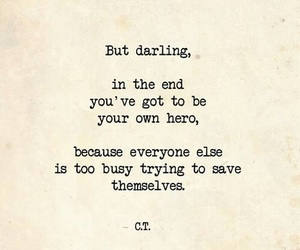 hero, love, and quotes image