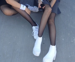 girl, grunge, and white image