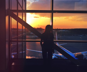 airport, fashion, and girl image