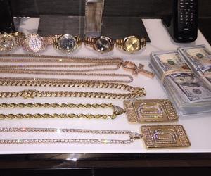 money, luxury, and watch image