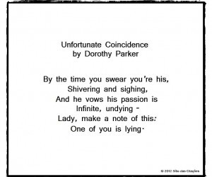 dorothy parker, poems, and poetry image