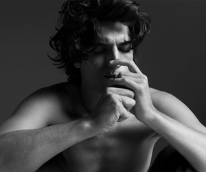 louis garrel, black and white, and boy image