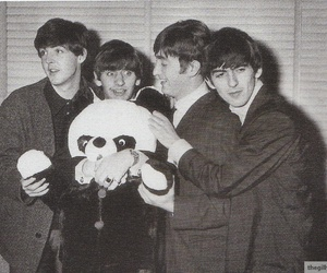 famous, george harrison, and ringo starr image