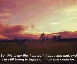 sad, happy, and life image