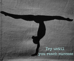 gymnastics, handstand, and success image