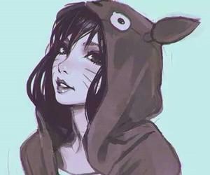 anime, girl, and totoro image