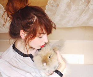 bunny, red, and red hair image