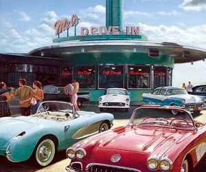 vintage, car, and retro image