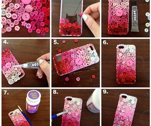 diy, case, and pink image
