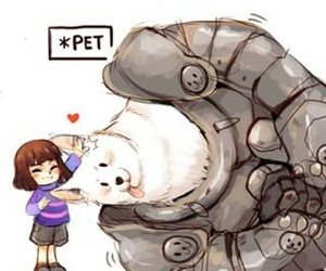 frisk, cute, and undertale image