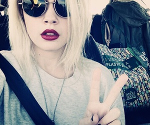 bea miller, blonde, and peace image
