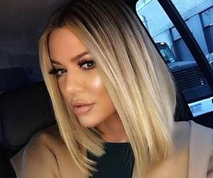 khloe kardashian, hair, and blonde image