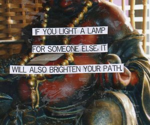 karma, what goes around comes around, and light a lamp image