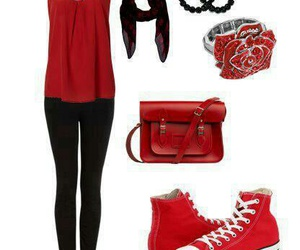 fashion, outfitt, and red image