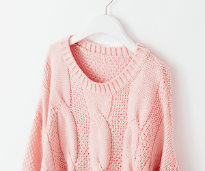 pink, sweater, and fashion image