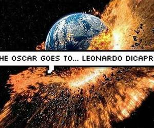 leonardo dicaprio, oscar, and funny image