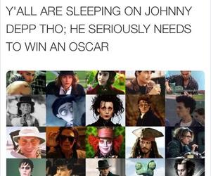 funny, johnny depp, and oscars image