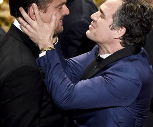 mark ruffalo, oscar, and leonardo dicaprio image
