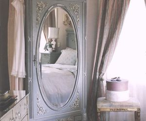 vintage, mirror, and bedroom image