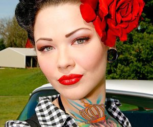 Pin Up and tattoo image