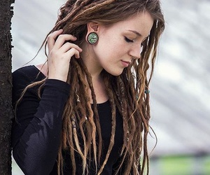 dreads and stretched ears image