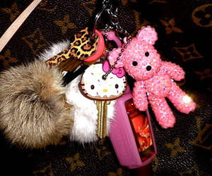 key, hello kitty, and pink image