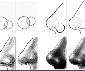 nose, draw, and art image