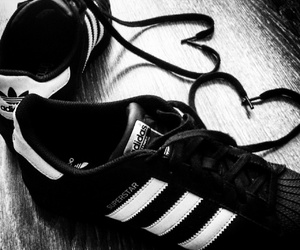 blackandwhite, shoes, and superstar image