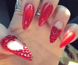 fashion, heart, and long nails image