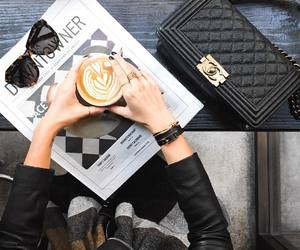 black, cafe, and coffee image