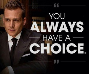 suits, harvey specter, and choice image
