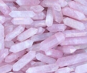 crystal, pink, and wallpaper image