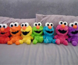 bed, tickle, and elmo image