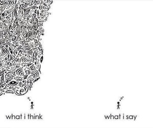 funny, think, and thinking image
