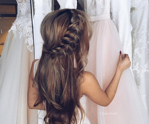 beautiful hair, hairstyle, and brunette image