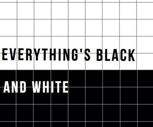 black, white, and quote image