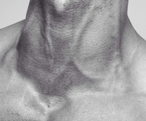 neck, boy, and veins image