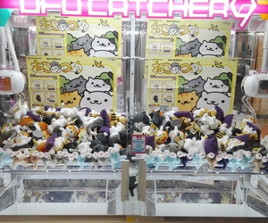 japan, ufo catcher, and neko atsume image