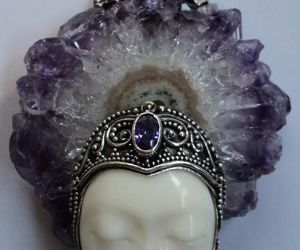 amethyst, face, and jewels image