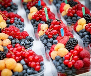 berries, berry, and blueberry image
