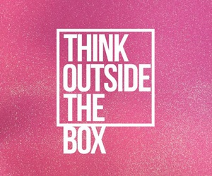 quotes, pink, and box image